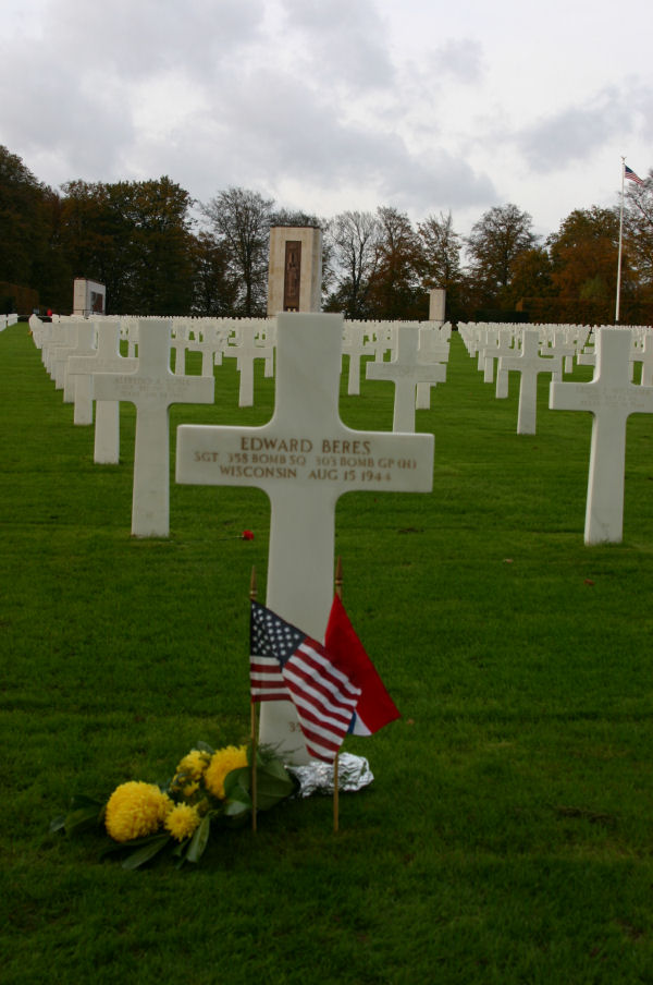Luxembourg American Cemetery 303rd Bg Graves