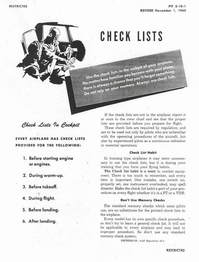 b 17 cockpit checklist