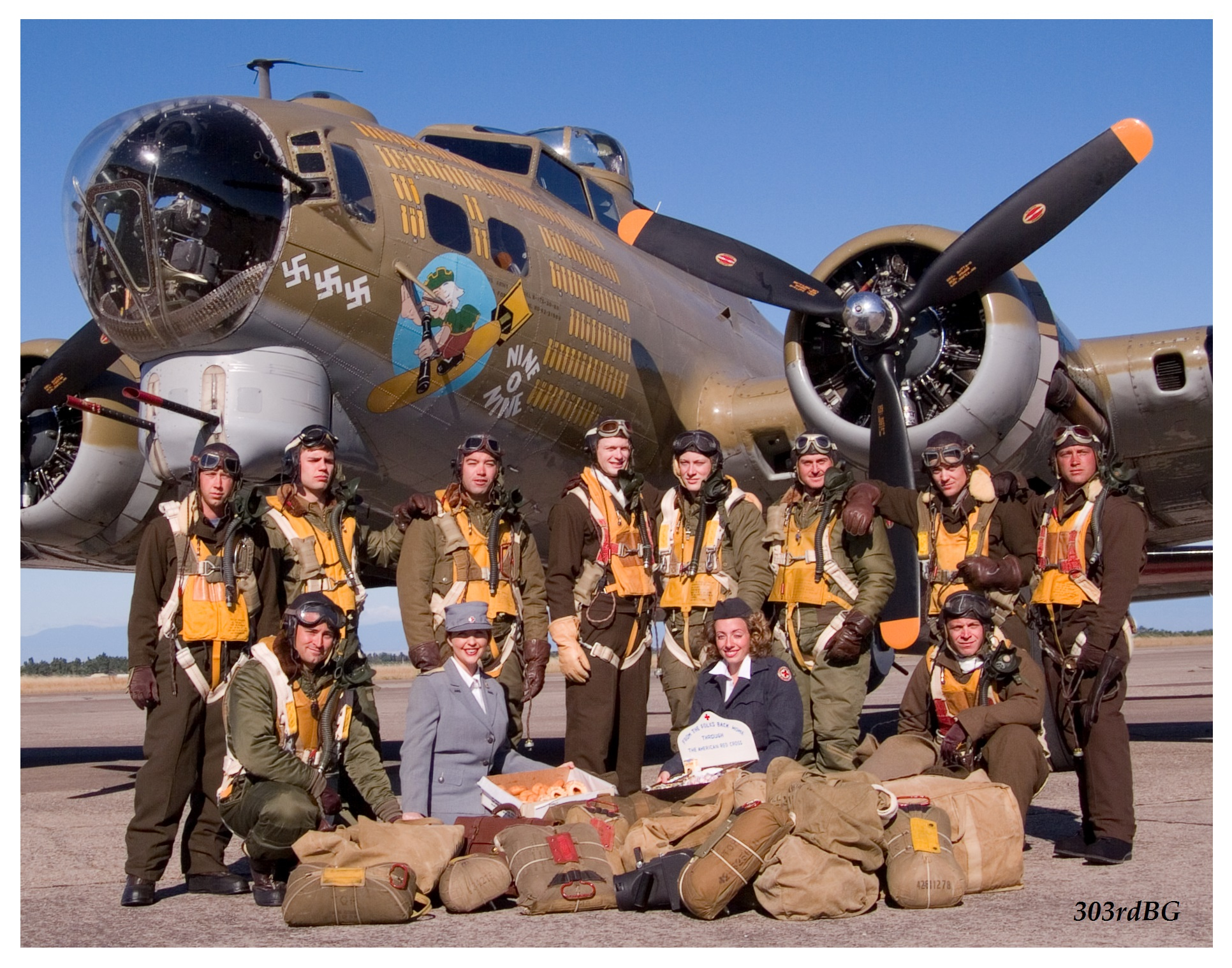 Wwii Uniforms And Flight Gear Photo Shoot B17 Wiring Harness Click Image For A Larger View