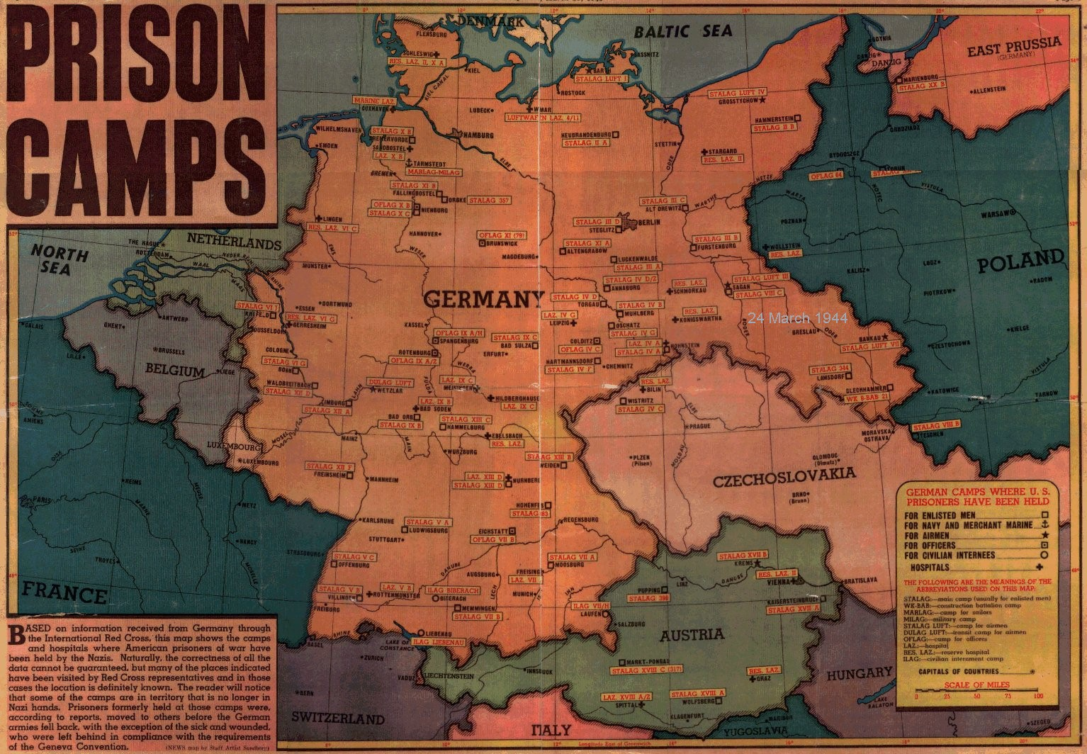 POW Camps - Germany map of concentration camps