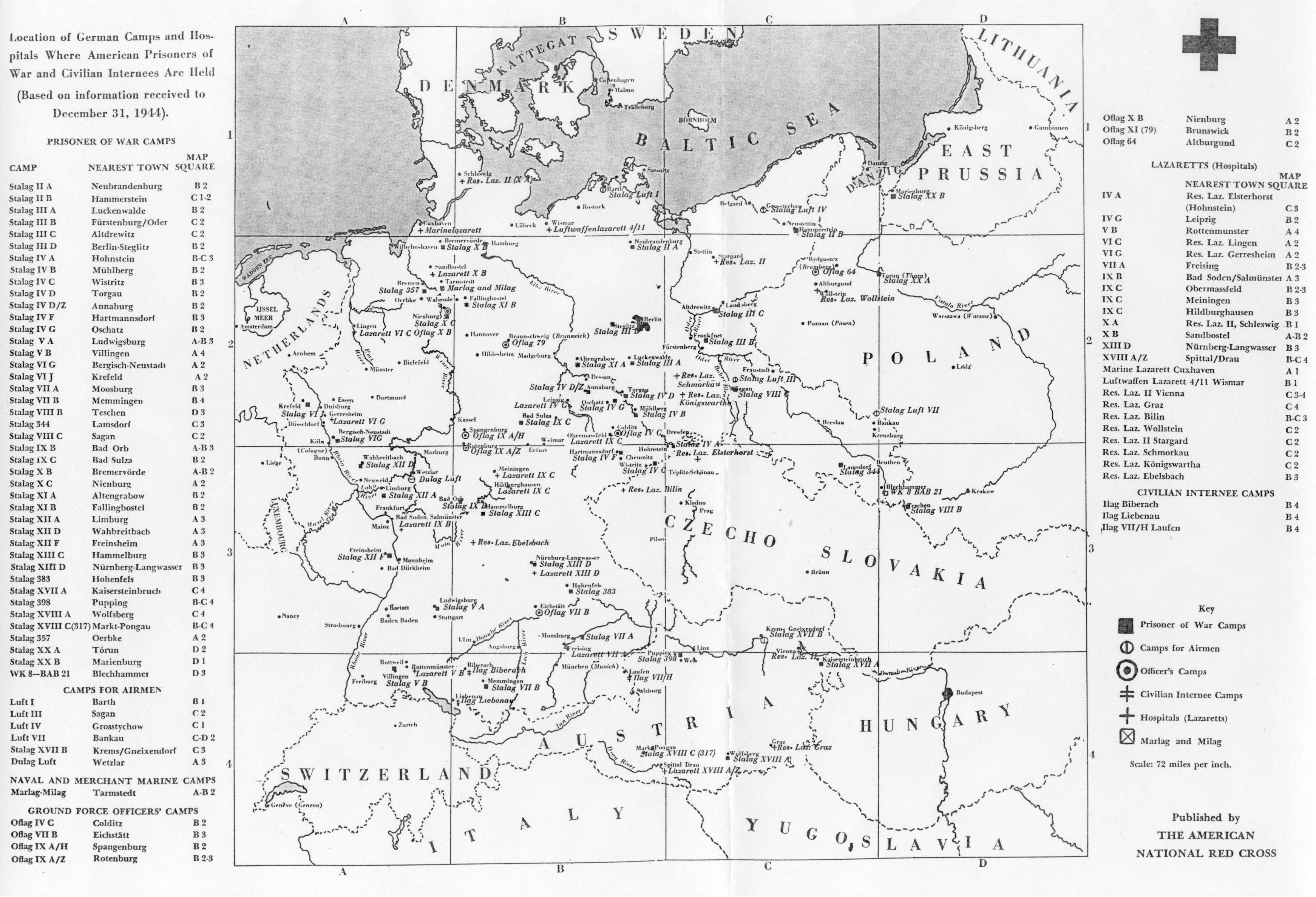 POW Camps - Us concentration camps ww2 map