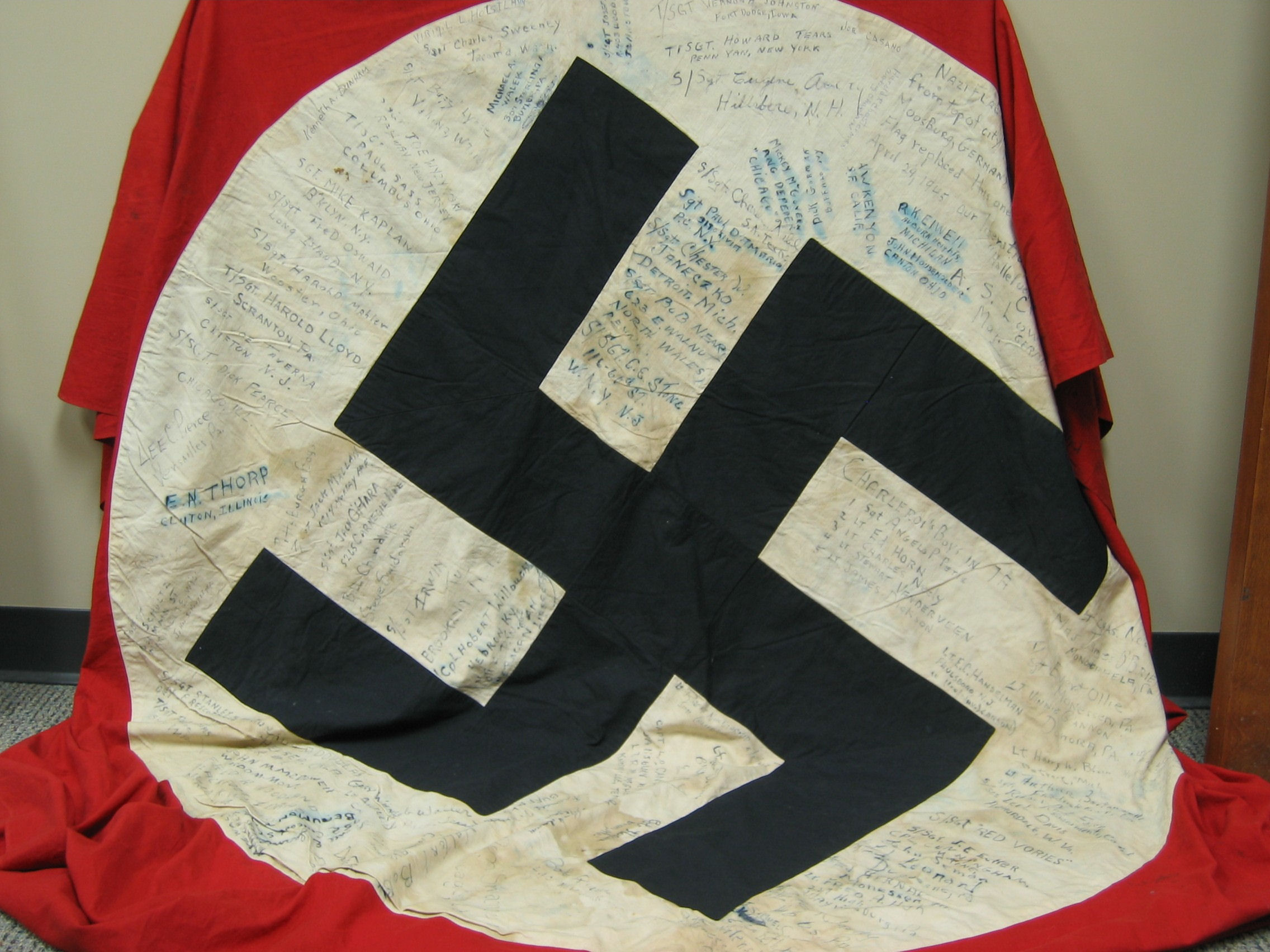 Nazi Flag from City Hall, Moosburg, Germany